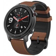 Умные часы Amazfit GTR 47 mm aluminium case, leather strap