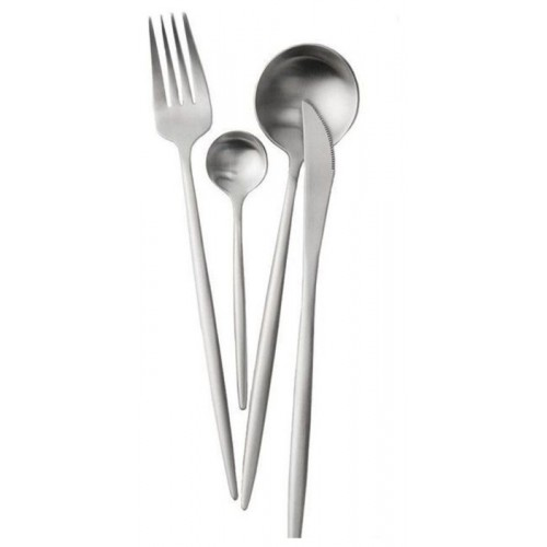 Xiaomi Набор столовых приборов Maison Maxx Stainless Steel Set Modern Flatware Set 4 предмета Silver
