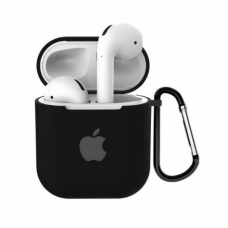 Силиконовый чехол тонкий для Apple AirPods 2 черный