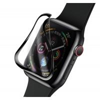 Защитное стекло глянцевое керамика для Apple Watch 40мм черный