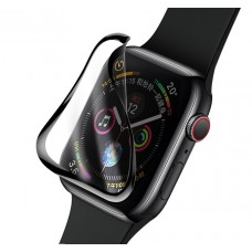 Защитное стекло глянцевое керамика для Apple Watch 38мм черный