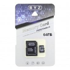 Карта памяти 64GB microSDHC Class10 Byz