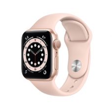 Часы Apple Watch Series 6 GPS 40mm Aluminum Case with Sport Band (Золотой/Розовый)