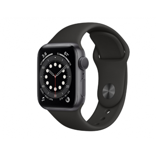 Часы Apple Watch Series 6 GPS 40mm Aluminum Case with Sport Band (Серый космос/Черный)