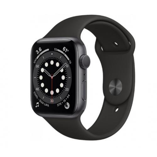 Часы Apple Watch Series 6 GPS 44mm Aluminum Case with Sport Band (Серый космос/Черный)
