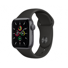 Часы Apple Watch SE GPS 40mm Aluminum Case with Sport Band (Серый космос/Черный)